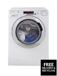 Candy Gvs148Dc3 Grand'O Vita 8Kg Load, 1400 Spin Washing Machine With Smart Touch - White/Chrome Best Price, Cheapest Prices