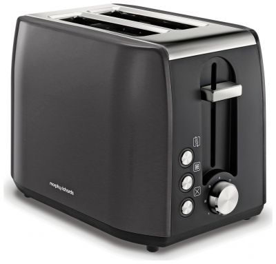 Morphy Richards 222058 Equip 2 Slice Toaster - Black Best Price, Cheapest Prices