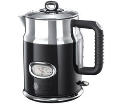 RUSSELL HOBBS Retro 21671 Jug Kettle - Black Best Price, Cheapest Prices