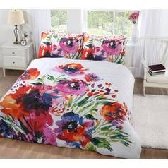 Argos Home Abstract Floral Bedding Set - Double Best Price, Cheapest Prices