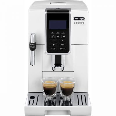 De'Longhi Dinamica ECAM350.35.W Bean to Cup Coffee Machine - White Best Price, Cheapest Prices