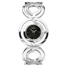 Seksy Ladies' Black Mother of Pearl Dial Bracelet Watch Best Price, Cheapest Prices