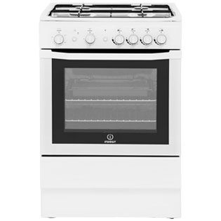 Indesit I6GG1W Gas Cooker - White - A Rated Best Price, Cheapest Prices