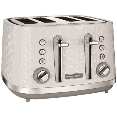 Morphy Richards Vector 248134 4 Slice Toaster - White Best Price, Cheapest Prices