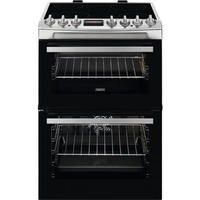 Zanussi ZCV69350XA 60cm Double Oven Electric Cooker With Ceramic Hob - Stainless Steel Best Price, Cheapest Prices