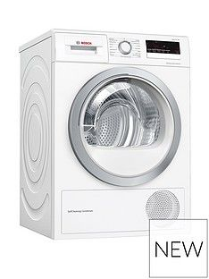 Bosch Serie 4 WTW85231GB 8kg Condenser Tumble Dryer with Heat Pump Technology - White Best Price, Cheapest Prices