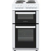 Nordmende CTES51WH 50cm Double Cavity Electric Cooker With Sealed Plate Hob - White Best Price, Cheapest Prices