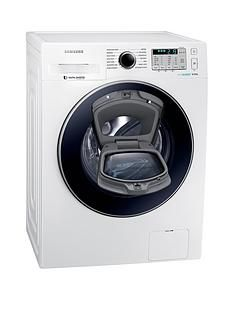 Samsung WW80K5413UW/EU 8kg Load, 1400 Spin AddWash Washing Machine with ecobubble™ Technology and 5 Year Samsung Parts and Labour Warranty - White Best Price, Cheapest Prices