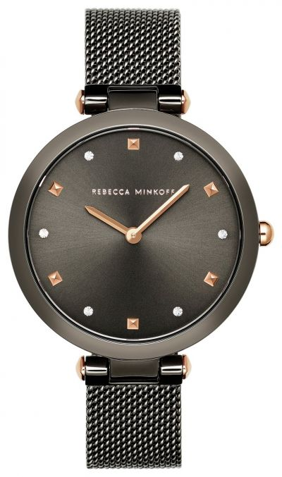 Rebecca Minkoff Ladies Black Stainless Steel Bracelet Watch Best Price, Cheapest Prices