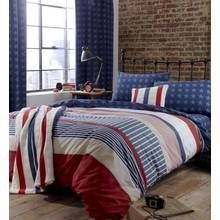 Catherine Lansfield Stars and Stripes Duvet Set - Single Best Price, Cheapest Prices