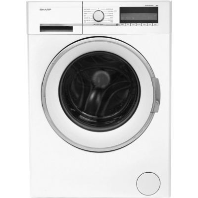 Sharp ES-GFC8144W3 8Kg Washing Machine with 1400 rpm - White - A+++ Rated Best Price, Cheapest Prices
