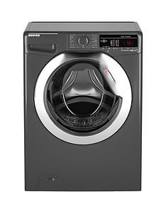 Hoover Dynamic Next DXOA49C3R 9kg Load, 1400 Spin Washing Machine with One Touch - Graphite/Chrome Best Price, Cheapest Prices