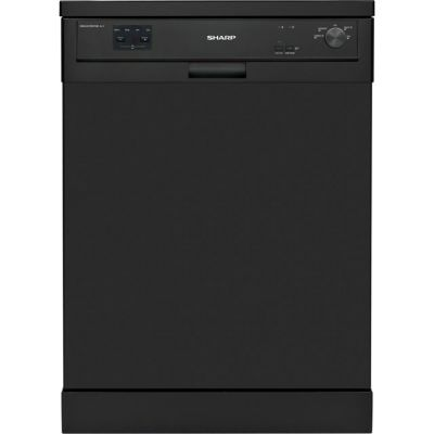 Sharp QW-HX13F472B Standard Dishwasher - Black - A++ Rated Best Price, Cheapest Prices