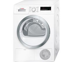 BOSCH Serie 4 WTN85280GB Condenser Tumble Dryer - White Best Price, Cheapest Prices