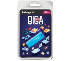 INTEGRAL USB 2.0 Memory Stick - 128 GB, Blue Best Price, Cheapest Prices