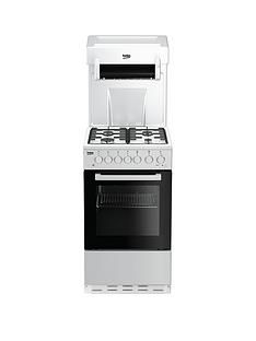 Beko KA52NEW 50cm Single Oven with High Level Grill Gas Cooker - White Best Price, Cheapest Prices