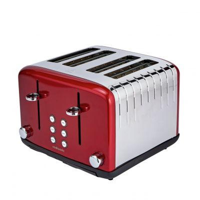 Cookworks Pyramid 4 Slice Toaster - Red Best Price, Cheapest Prices