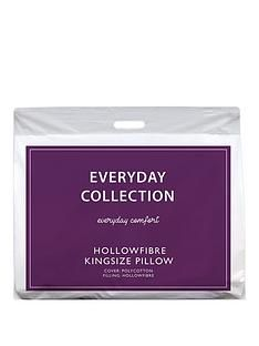 Everyday Collection King Size Hollowfibre Pillow with Case Best Price, Cheapest Prices