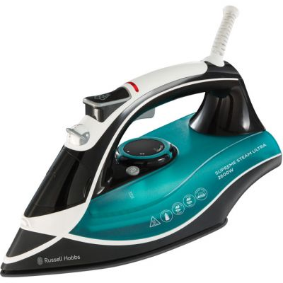 Russell Hobbs Supreme Steam Ultra 23260 2600 Watt Iron -Black / Green Best Price, Cheapest Prices