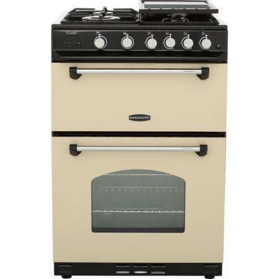 Rangemaster Classic 60 CLAS60NGFCR/C Gas Cooker with Variable Gas Grill - Cream / Chrome - B/B Rated Best Price, Cheapest Prices