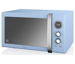 SWAN SM22080BLN Microwave with Grill - Blue Best Price, Cheapest Prices