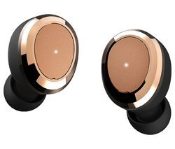 DEAREAR Oval Wireless Bluetooth Headphones - Black & Gold Best Price, Cheapest Prices