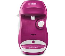 TASSIMO by Bosch Happy TAS1001GB Coffee Machine - Purple & White Best Price, Cheapest Prices