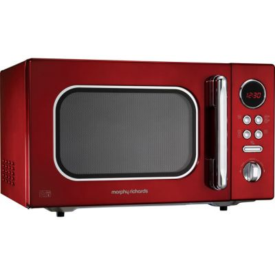 Morphy Richards Evoke 511512 23 Litre Microwave - Red Best Price, Cheapest Prices
