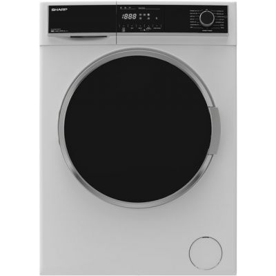 Sharp ES-HFH814QW3 8Kg Washing Machine with 1400 rpm - White - A+++ Rated Best Price, Cheapest Prices