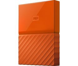 WD My Passport Portable Hard Drive - 1 TB, Orange Best Price, Cheapest Prices