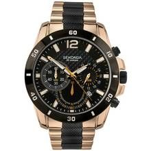 Sekonda Men's Black and Rose Gold Plated Chronograph Watch Best Price, Cheapest Prices