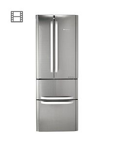 Hotpoint Day 1FFU4DX American Style 70cm Frost Free Fridge Freezer, A+ Energy Rating - Stainless Steel Best Price, Cheapest Prices