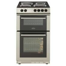 Belling FS50EFDO 50cm Twin Cavity Electric Cooker - Silver Best Price, Cheapest Prices