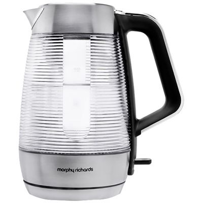 Morphy Richards Vetro Illuminating 108010 Kettle - Brushed Stainless Steel Best Price, Cheapest Prices