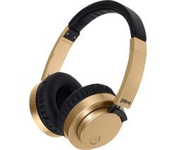 GROOV-E Fusion GV-BT400-GD Wireless Bluetooth Headphones - Gold Best Price, Cheapest Prices