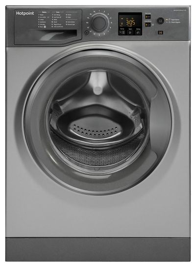Hotpoint NSWM843CGG 8KG 1400 Spin Washing Machine - Graphite Best Price, Cheapest Prices