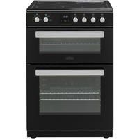 Belling FSE608DPc 60cm Double Oven Electric Cooker With Ceramic Hob - Black Best Price, Cheapest Prices