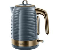 R HOBBS Inspire Luxe Jug Kettle - Grey & Brass Best Price, Cheapest Prices