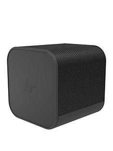 Kitsound Boom Cube Portable Wireless Bluetooth Speaker with Passive Bass Radiator, Metallic Finish and up to 6 hours Play Time - Black Best Price, Cheapest Prices