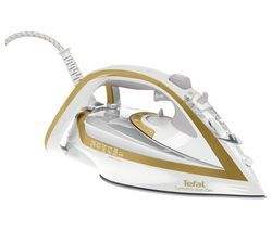 TEFAL Turbo Pro Anti-Scale FV5676 Steam Iron - White & Gold Best Price, Cheapest Prices