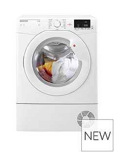 Hoover Link HLC8DG 8kg Sensor Condenser Tumble Dryer with One Touch - White Best Price, Cheapest Prices