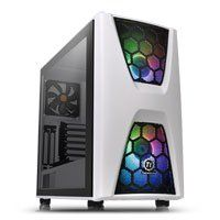 Thermaltake Commander C34 Snow Midi Chassis, Tempered Glass, 2x 200mm ARGB Fans/1x 120mm, USB 3.0, ATX/MicroATX/Mini-ITX Best Price, Cheapest Prices