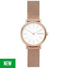 Skagen Ladies' Signatur SKW2694 Slim Rose Tone Mesh Watch Best Price, Cheapest Prices