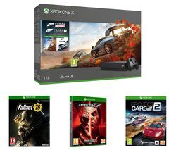 MICROSOFT Xbox One X, Forza Horizon 4, Forza Motorsport 7, Project Cars 2, Tekken 7 & Fallout 76 Bundle Best Price, Cheapest Prices