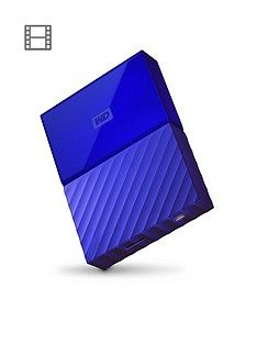 Western Digital My Passport 1TB Portable External Hard Drive - Blue Best Price, Cheapest Prices