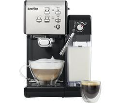 BREVILLE One-Touch VCF107 Coffee Machine - Black & Chrome Best Price, Cheapest Prices
