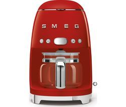 SMEG 50's Retro DCF02RDUK Filter Coffee Machine - Red Best Price, Cheapest Prices