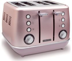 MORPHY RICHARDS Evoke Special Edition 4-Slice Toaster - Rose Quartz Best Price, Cheapest Prices