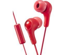 JVC HA-FX7M Gumy Plus Headphones – Red Best Price, Cheapest Prices