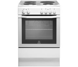 INDESIT I6EVA W UK 60 cm Electric Solid Plate Cooker - White Best Price, Cheapest Prices